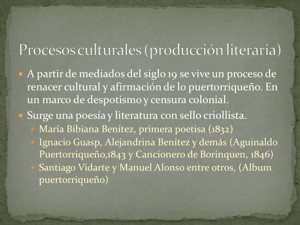 Procesos culturales (producción literaria)