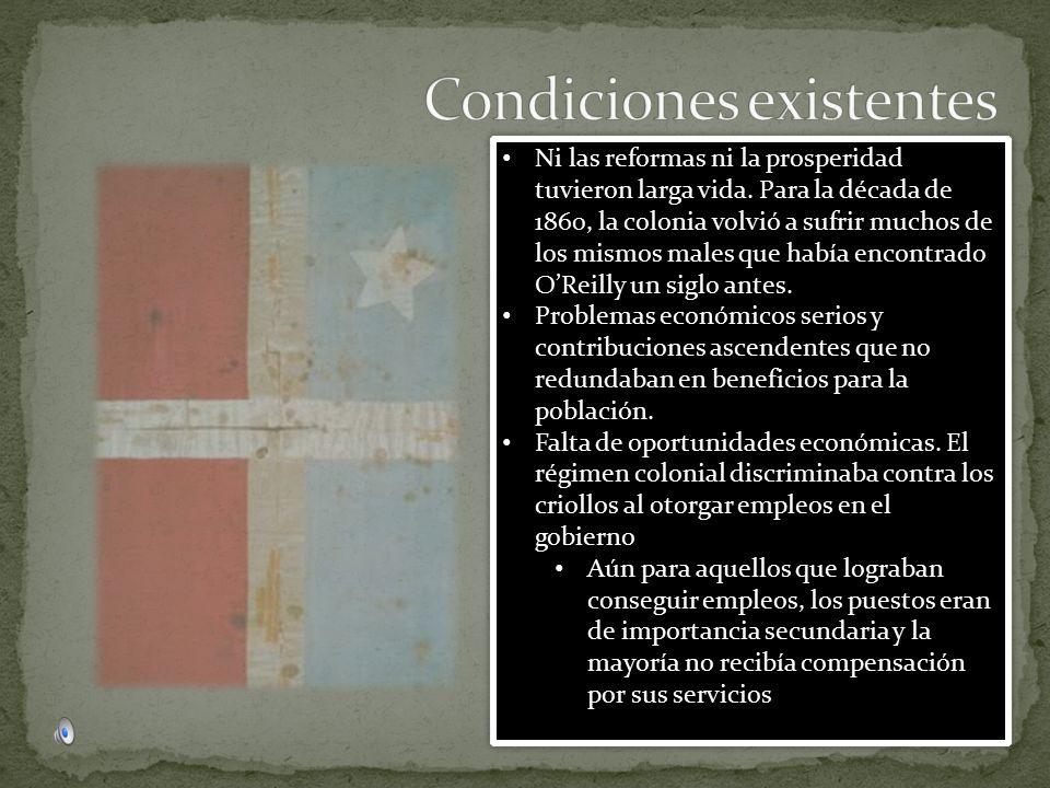 Condiciones existentes
