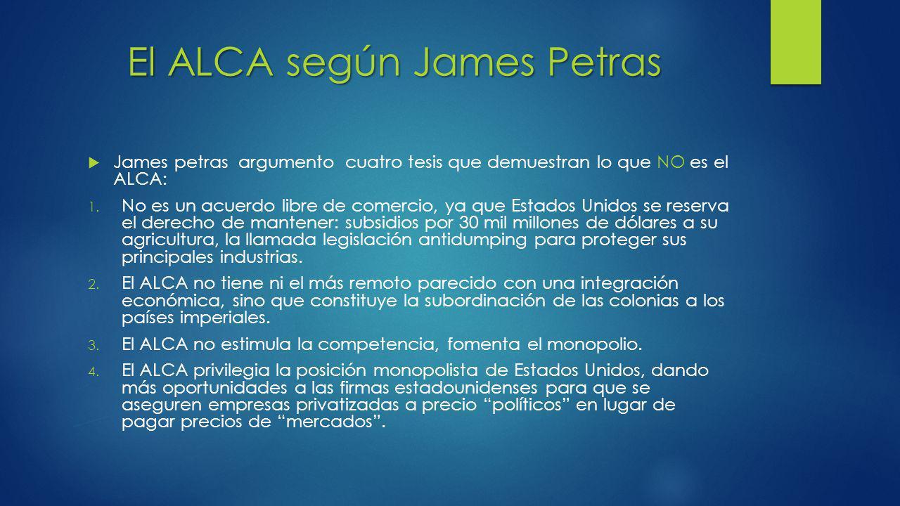 El ALCA según James Petras