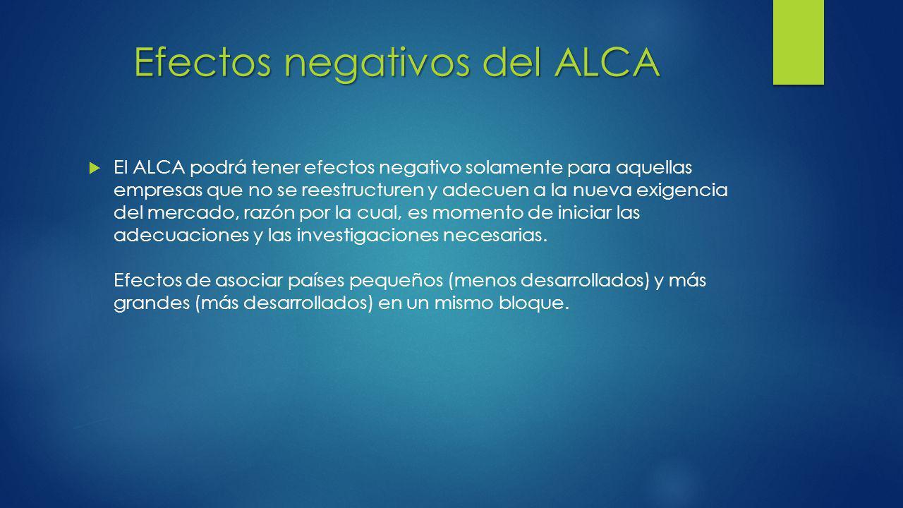 Efectos negativos del ALCA
