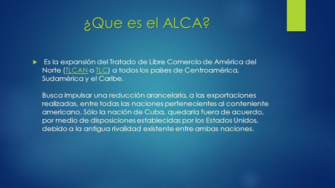 ¿Que es el ALCA