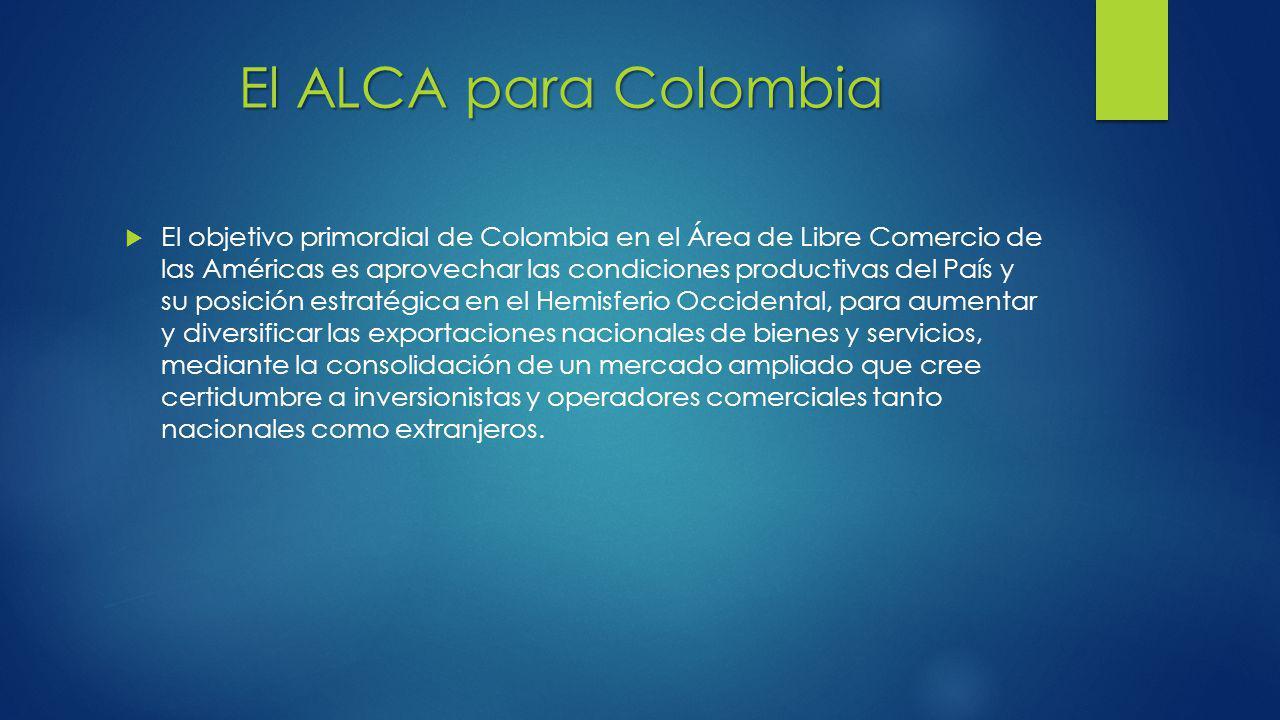 El ALCA para Colombia