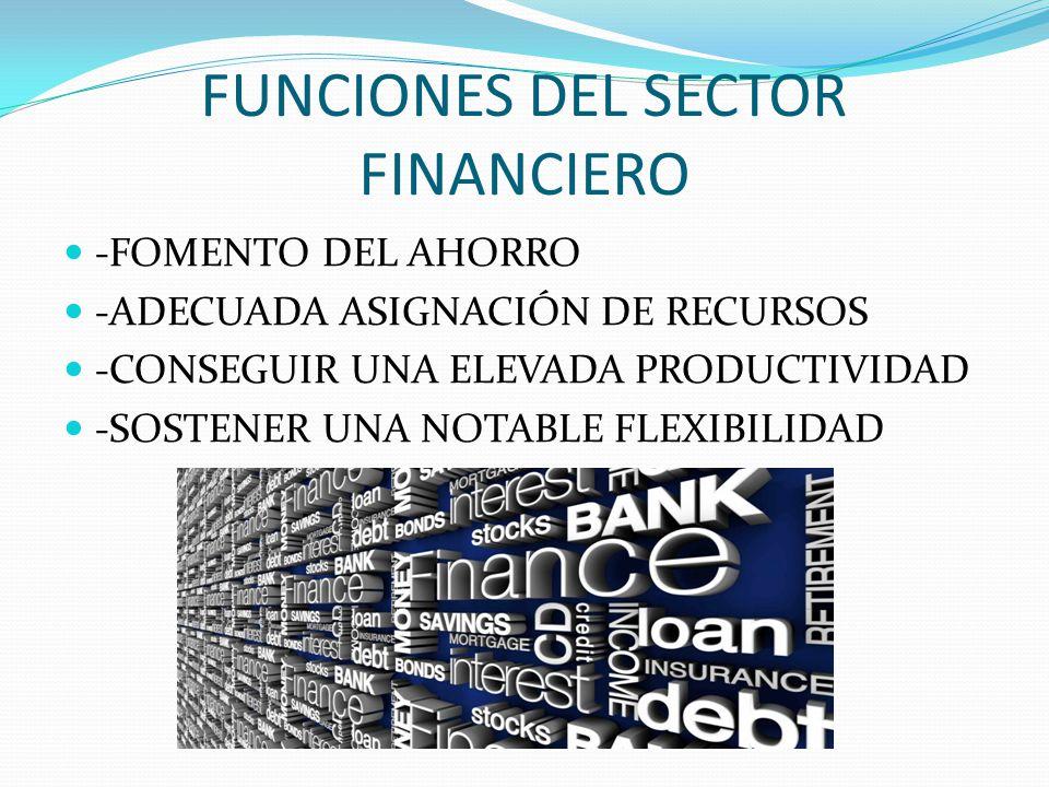 FUNCIONES DEL SECTOR FINANCIERO