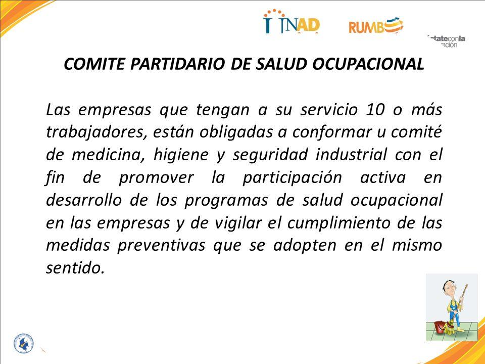 COMITE PARTIDARIO DE SALUD OCUPACIONAL