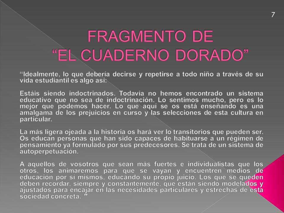 FRAGMENTO DE EL CUADERNO DORADO