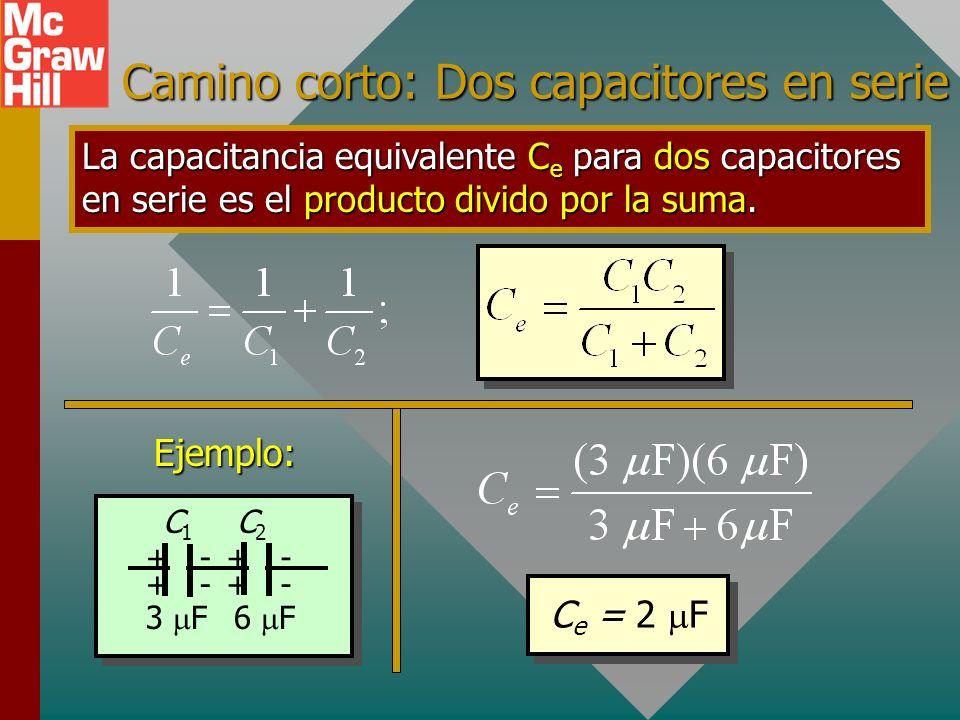 Camino corto: Dos capacitores en serie