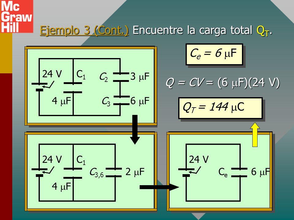 Ejemplo 3 (Cont.) Encuentre la carga total QT.