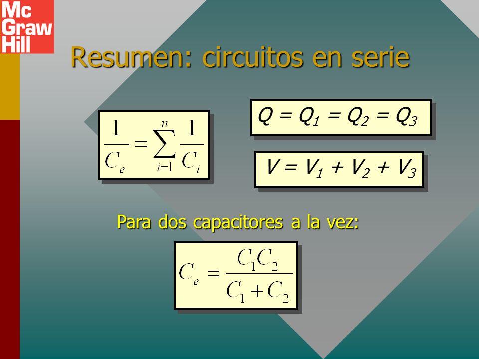 Resumen: circuitos en serie