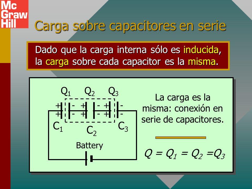 Carga sobre capacitores en serie