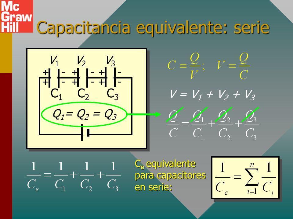 Capacitancia equivalente: serie