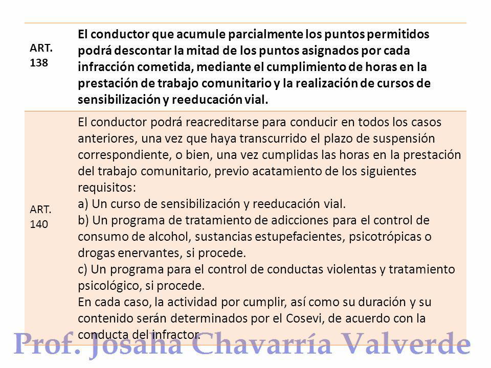a) Un curso de sensibilización y reeducación vial.