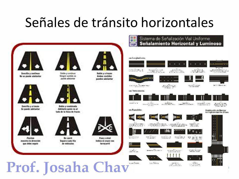 Señales de tránsito horizontales