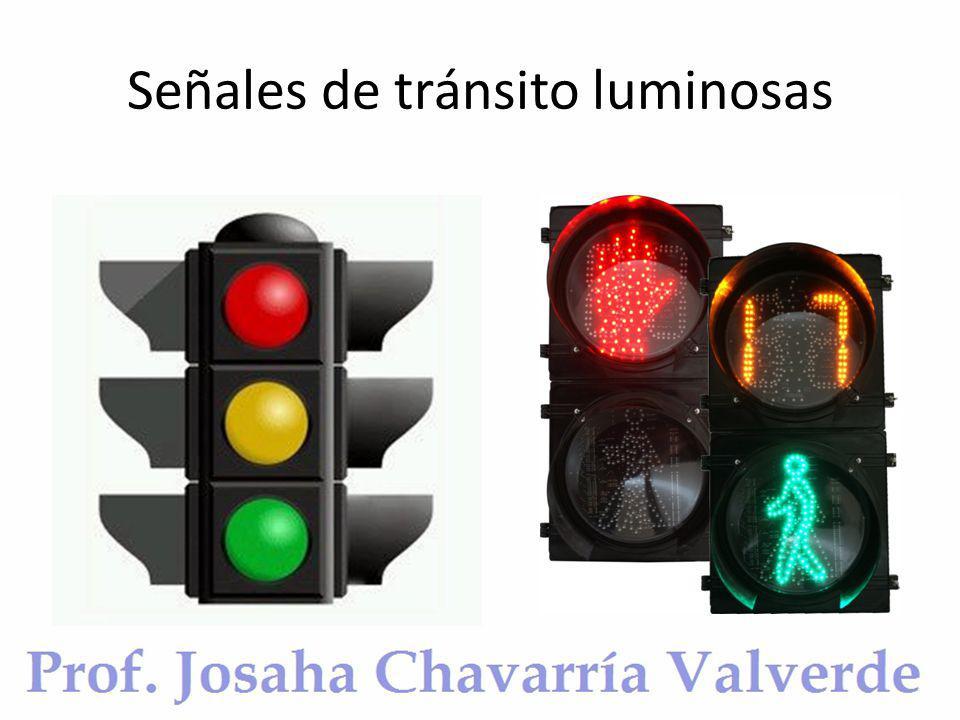 Señales de tránsito luminosas
