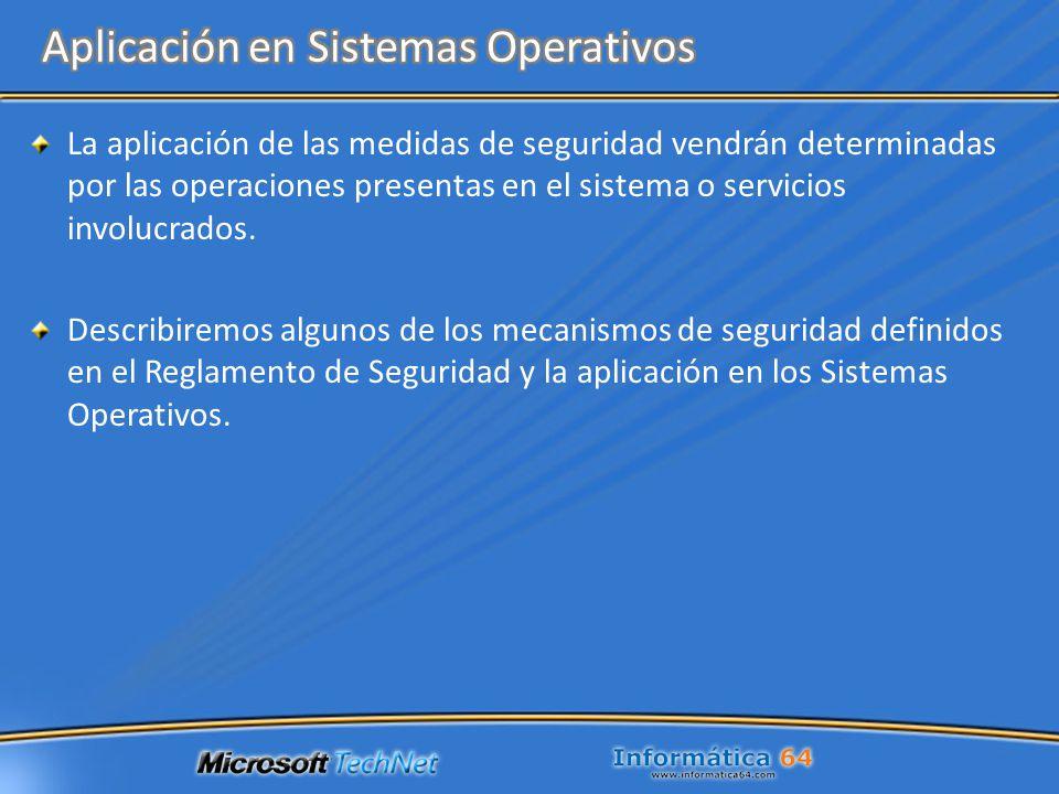 Aplicación en Sistemas Operativos