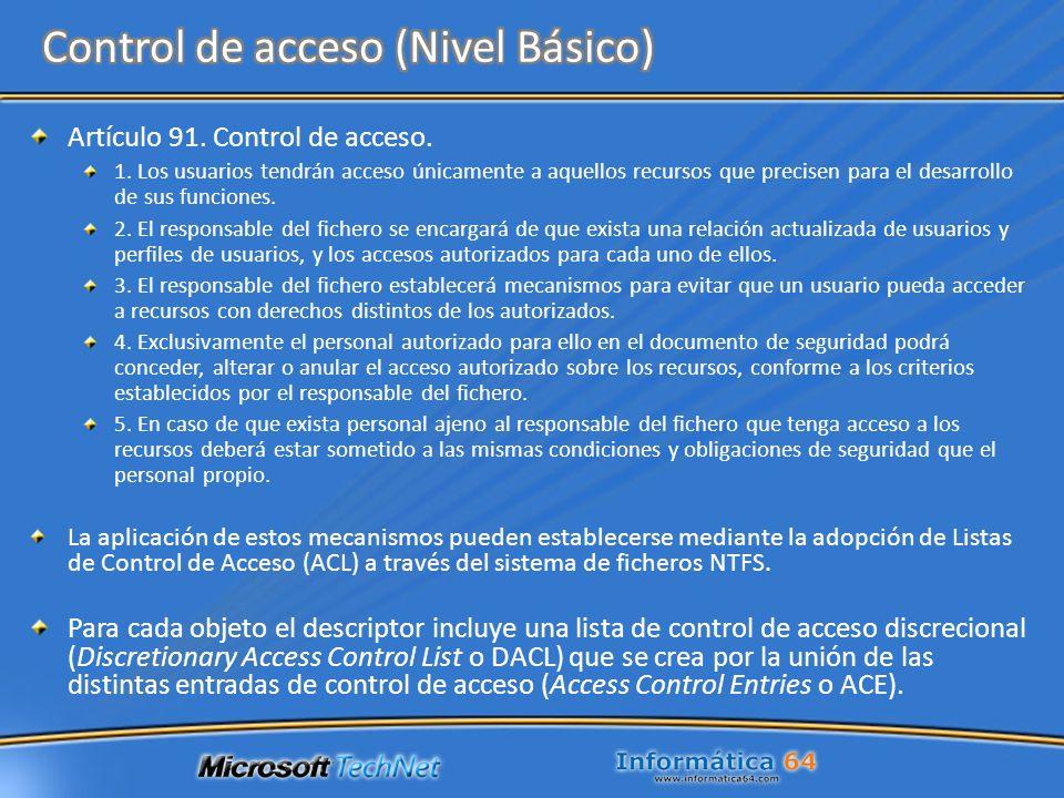 Control de acceso (Nivel Básico)