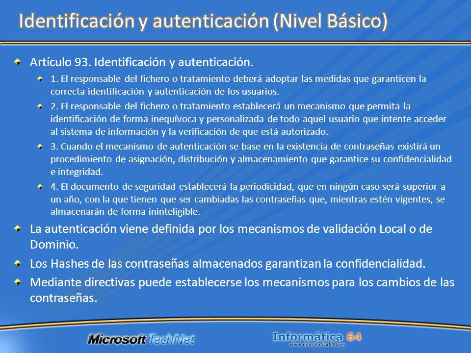 Identificación y autenticación (Nivel Básico)