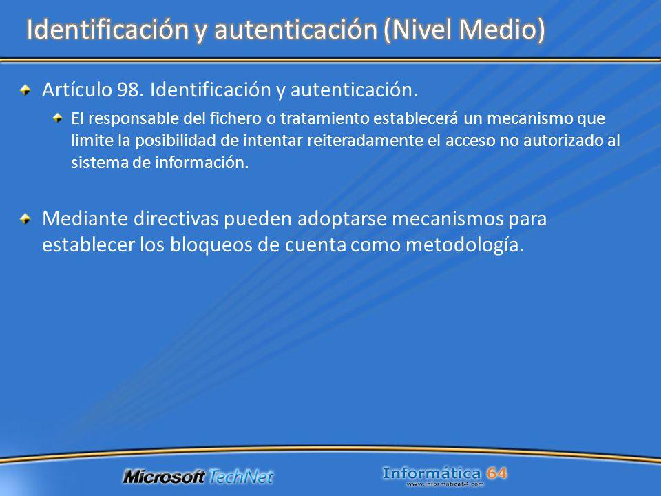 Identificación y autenticación (Nivel Medio)