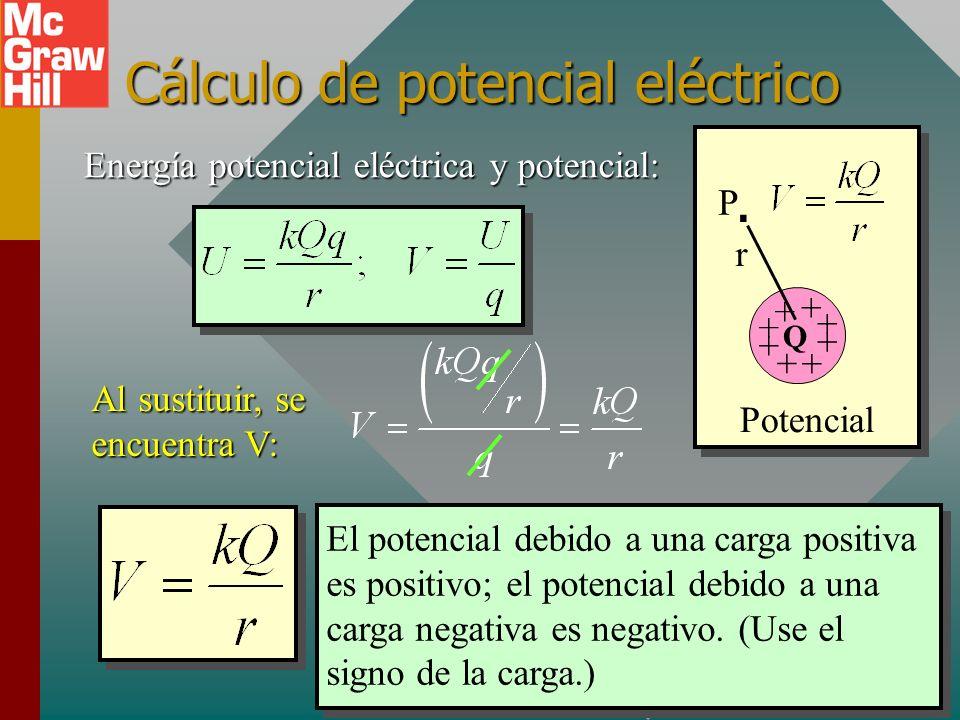 Cálculo de potencial eléctrico