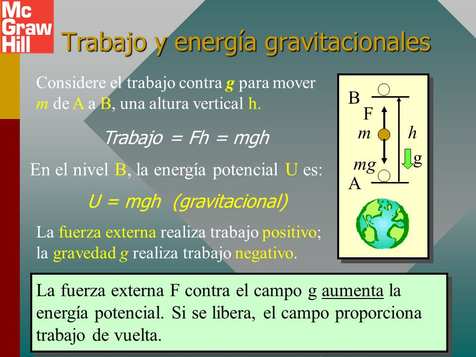 Trabajo y energía gravitacionales