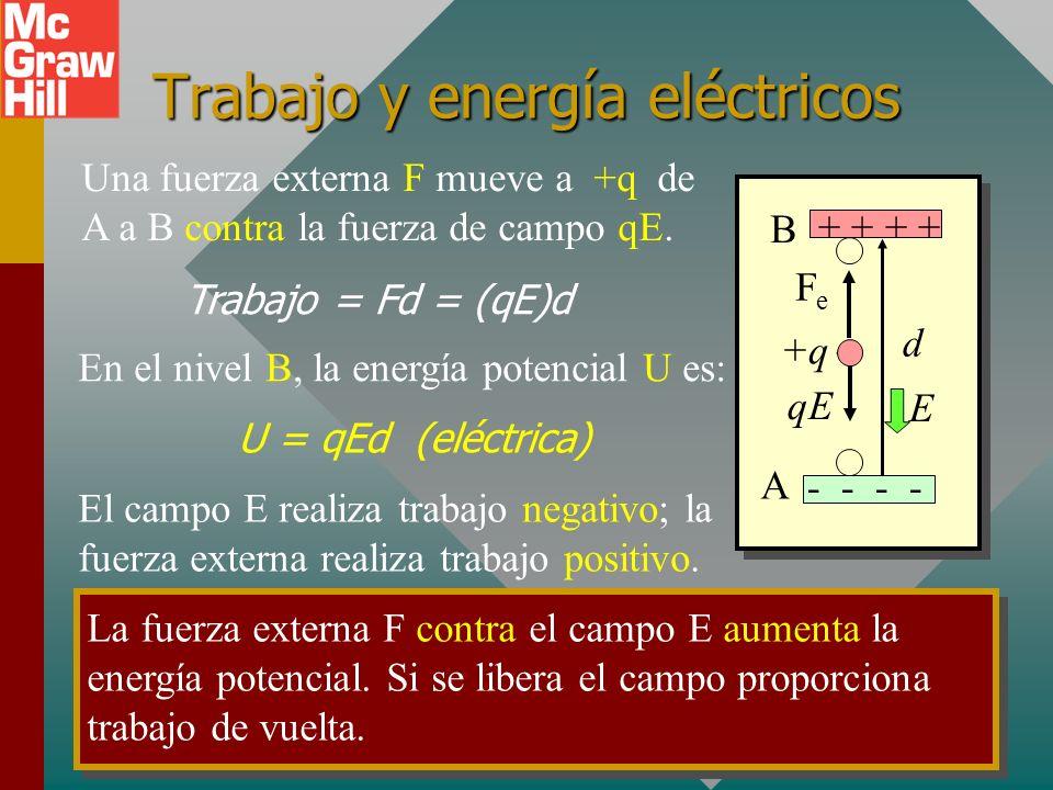 Trabajo y energía eléctricos