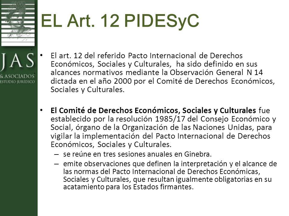 EL Art. 12 PIDESyC