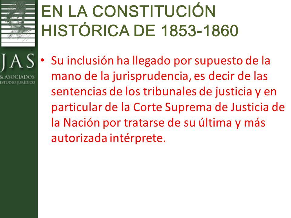 EN LA CONSTITUCIÓN HISTÓRICA DE 1853-1860