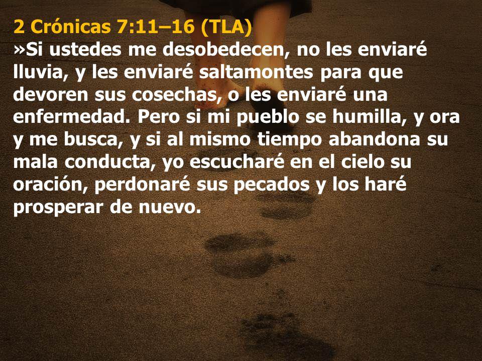 2 Crónicas 7:11–16 (TLA)
