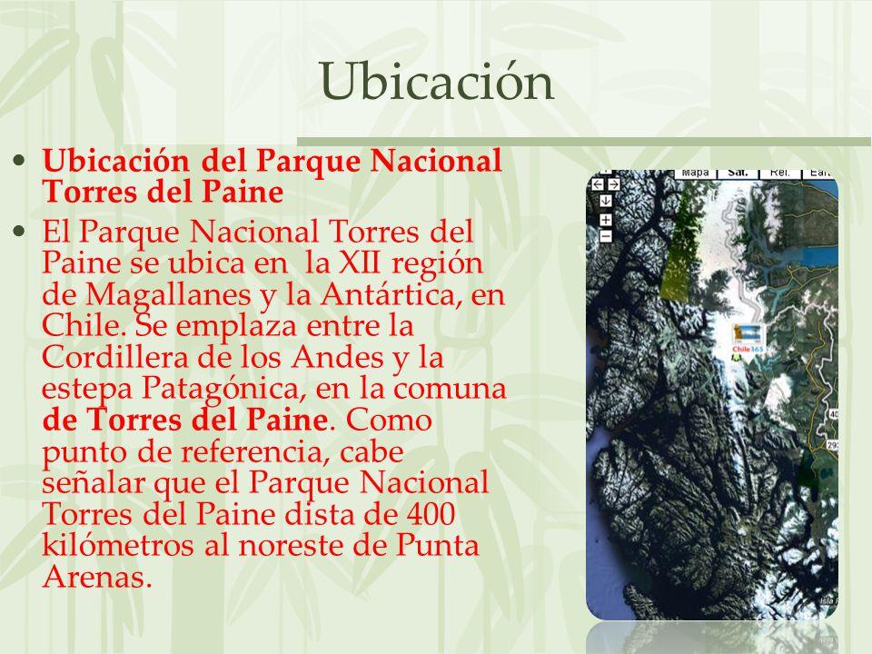 Ubicación Ubicación del Parque Nacional Torres del Paine