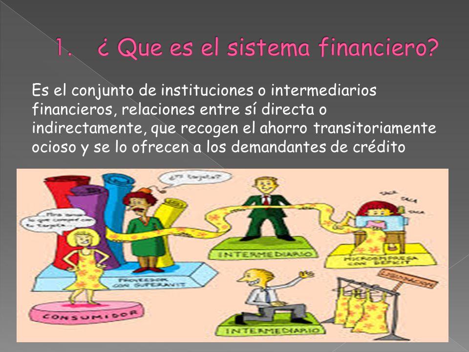 ¿ Que es el sistema financiero