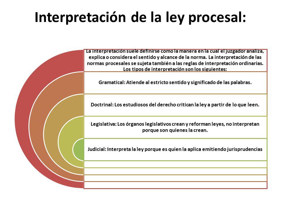 Interpretación de la ley procesal: