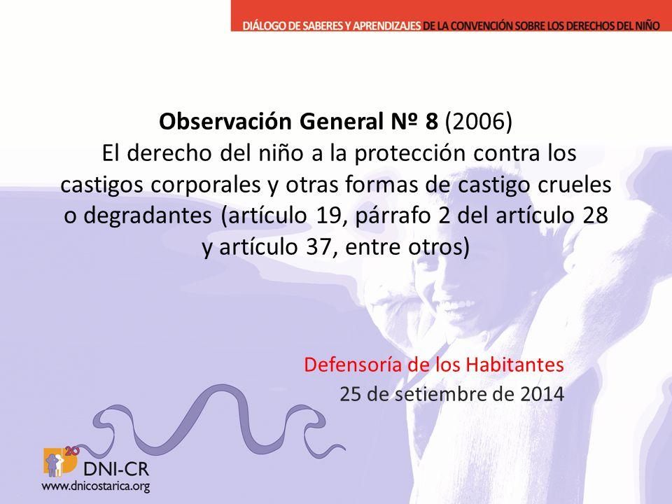 Defensoría de los Habitantes 25 de setiembre de 2014
