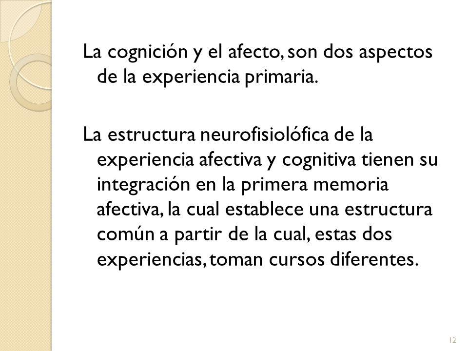 La cognición y el afecto, son dos aspectos de la experiencia primaria