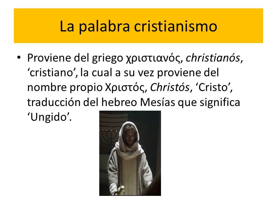 La palabra cristianismo