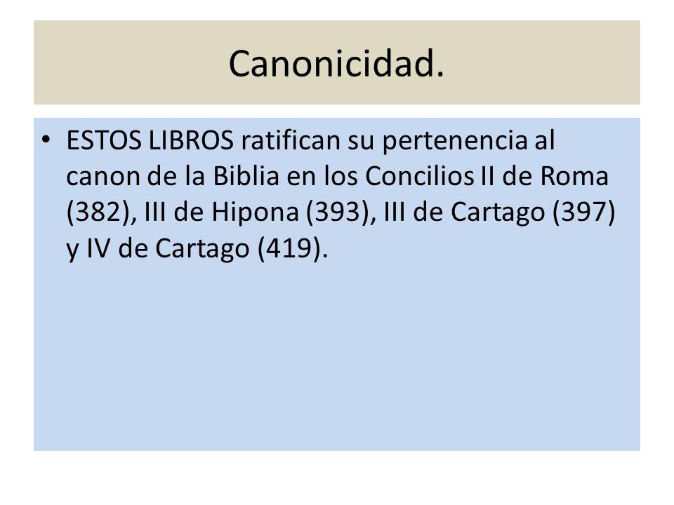 Canonicidad.