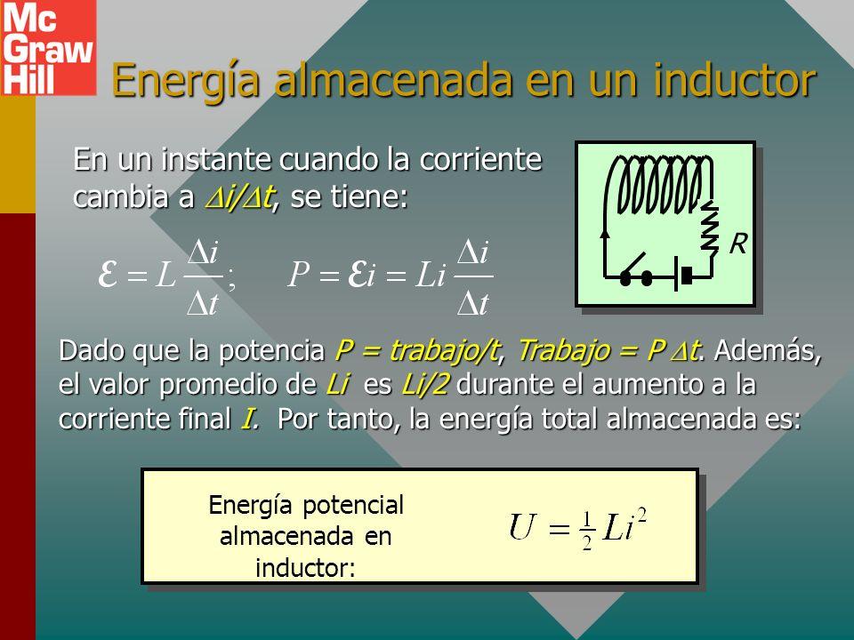 Energía almacenada en un inductor