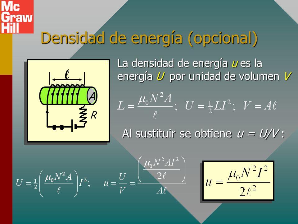 Densidad de energía (opcional)