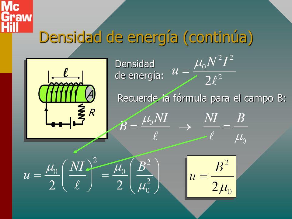Densidad de energía (continúa)