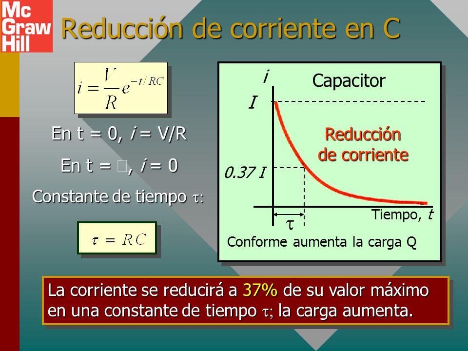 Reducción de corriente en C