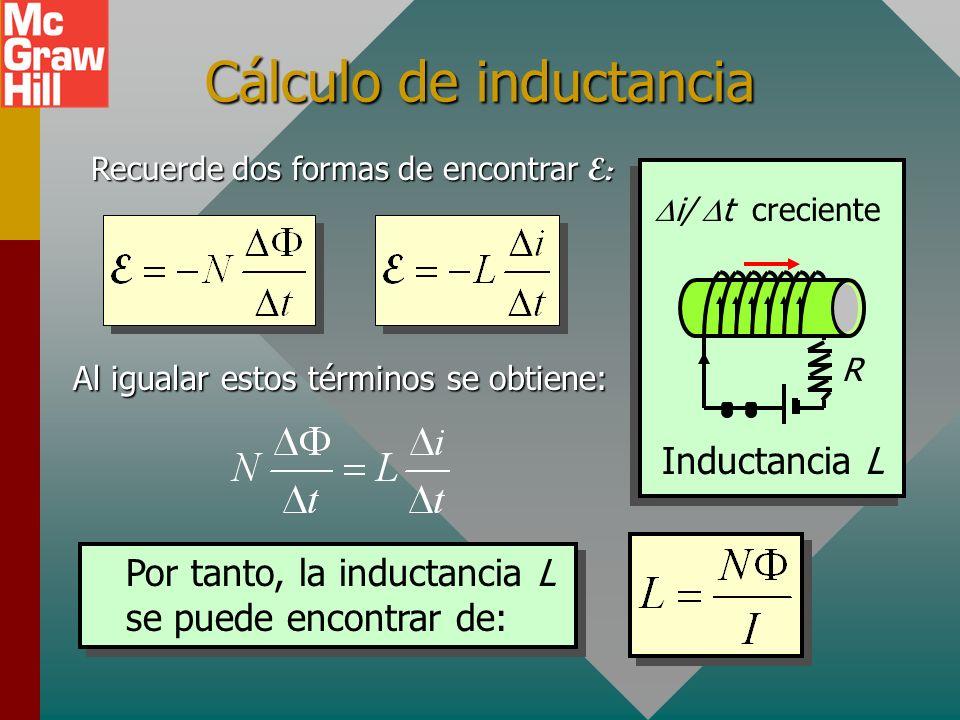 Cálculo de inductancia