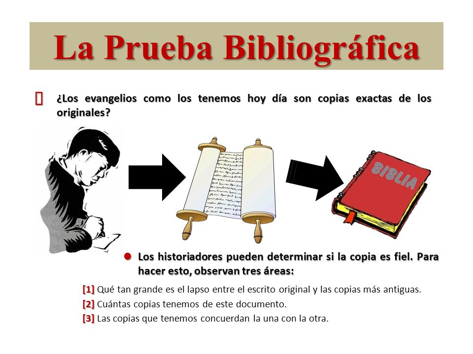 La Prueba Bibliográfica