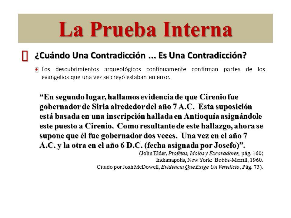 La Prueba Interna ´ ¿Cuándo Una Contradicción ... Es Una Contradicción Ÿ.