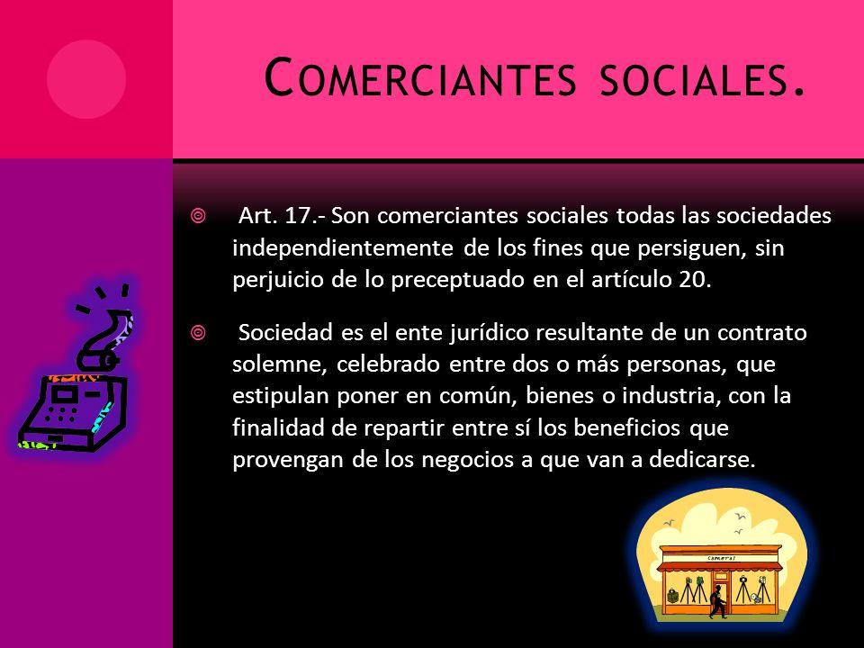 Comerciantes sociales.