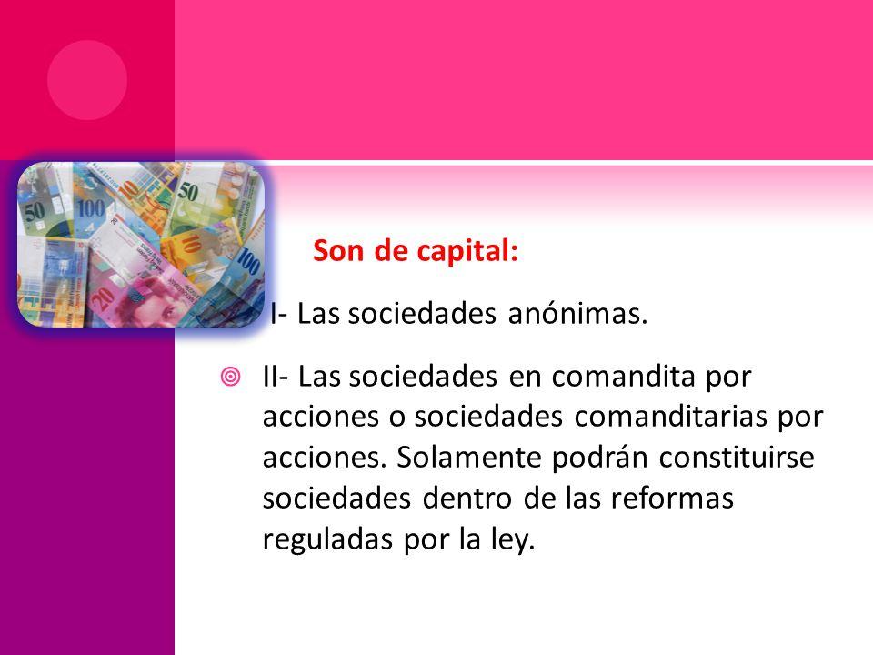 I- Las sociedades anónimas.