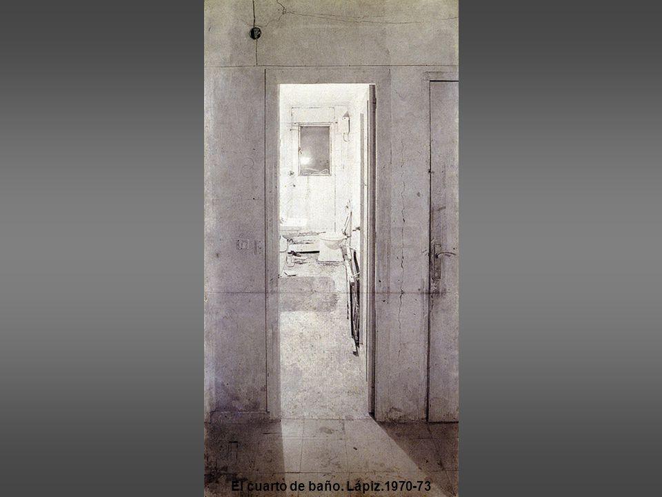 El cuarto de baño. Lápiz.1970-73