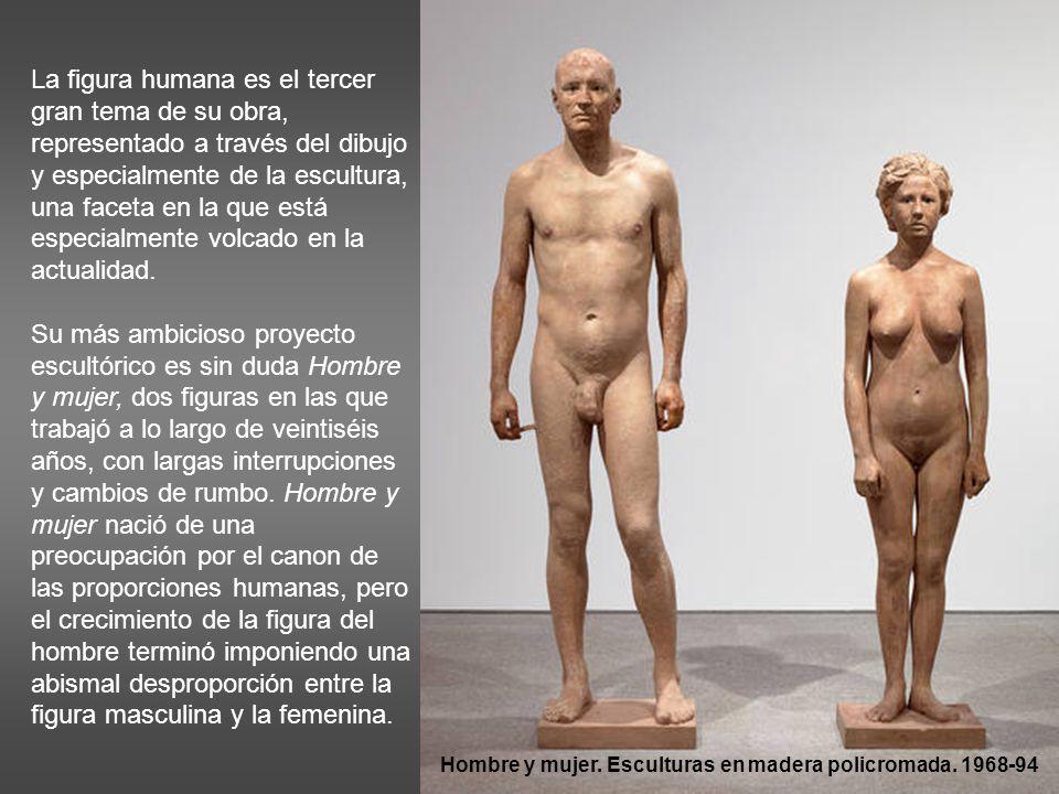 La figura humana es el tercer gran tema de su obra, representado a través del dibujo y especialmente de la escultura, una faceta en la que está especialmente volcado en la actualidad.