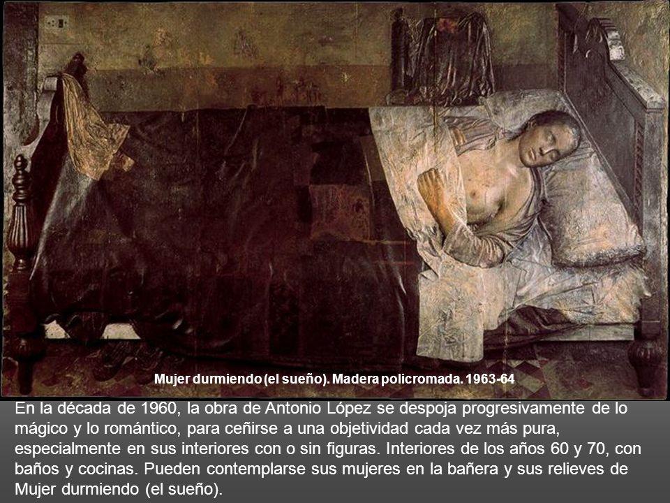Mujer durmiendo (el sueño). Madera policromada. 1963-64