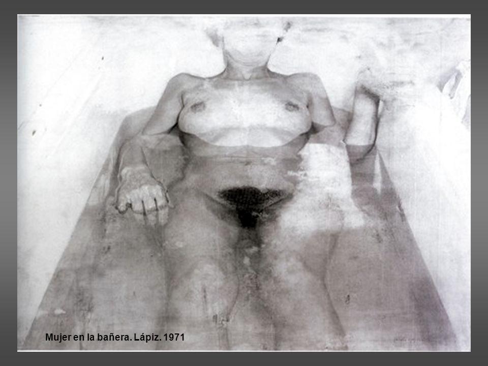 Mujer en la bañera. Lápiz. 1971