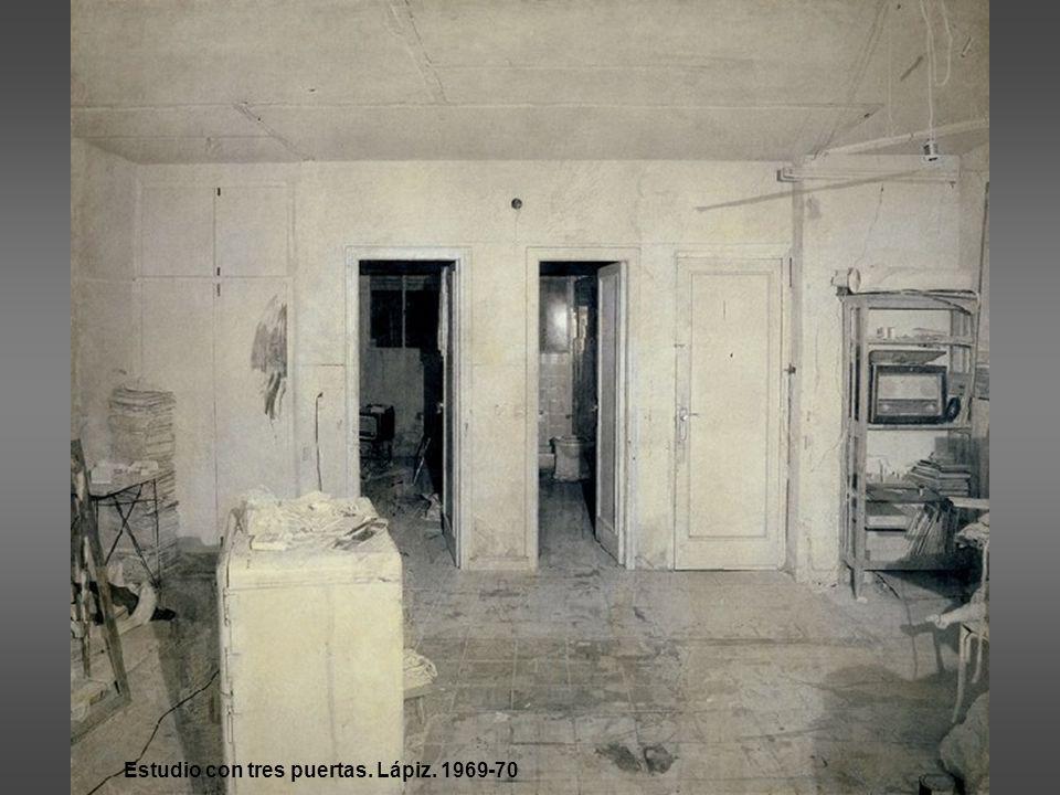 Estudio con tres puertas. Lápiz. 1969-70