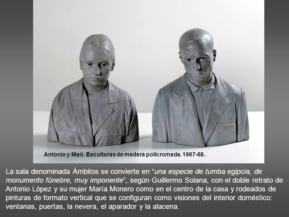 Antonio y Mari. Esculturas de madera policromada. 1967-68.
