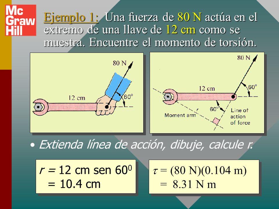 Extienda línea de acción, dibuje, calcule r.